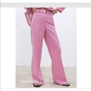 Zara High Waist pink pant